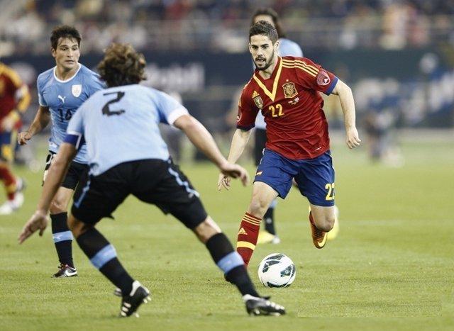 Isco en el seu debut amb la selecció espanyola