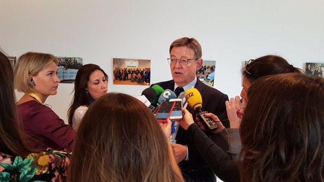 Ximo Puig en Bruselas este martes
