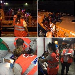 Imágenes de las intervenciones de Cruz Roja