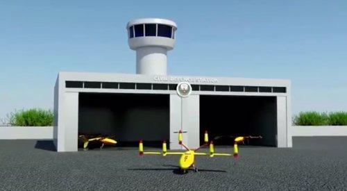 Dron antiincendios de la policía de Dubai