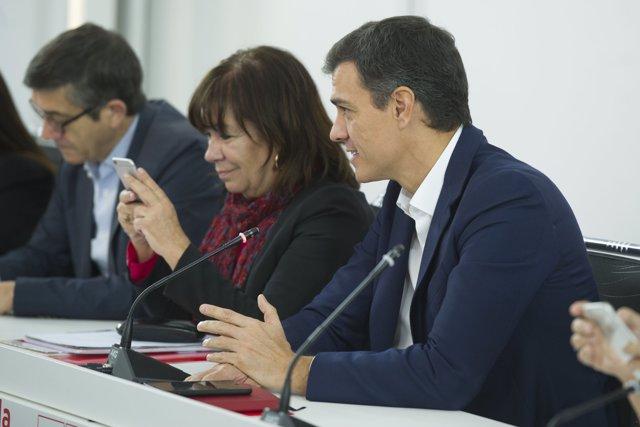 Pedro Sánchez presideix l'Executiva Federal per la situació a Catalunya