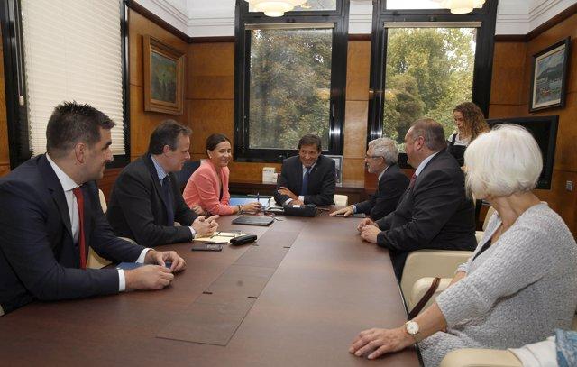 Reunión de presupuestos IU PSOE