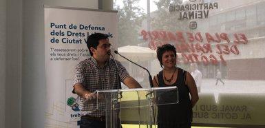 Barcelona obre el Punt de Defensa de Drets Laborals a Ciutat Vella contra la precarietat (EUROPA PRESS)