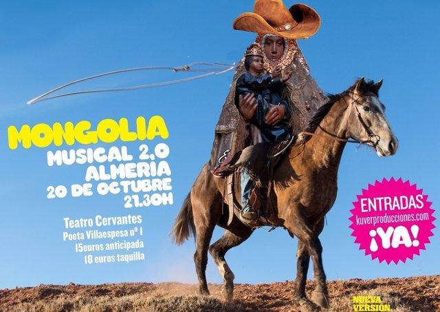 Cartel del musical en el Teatro Cervantes de Almería