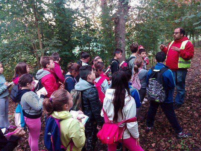 Campaña escolar en el Arboreto de Liendo