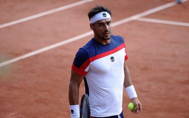 Fabio Fognini en Roland Garros