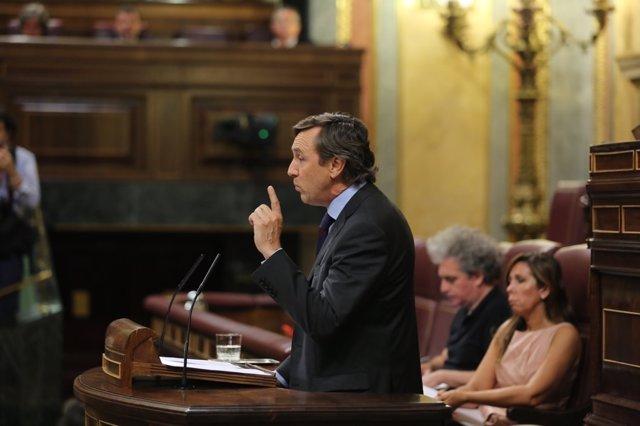 Rafael Hernando en el Congreso.