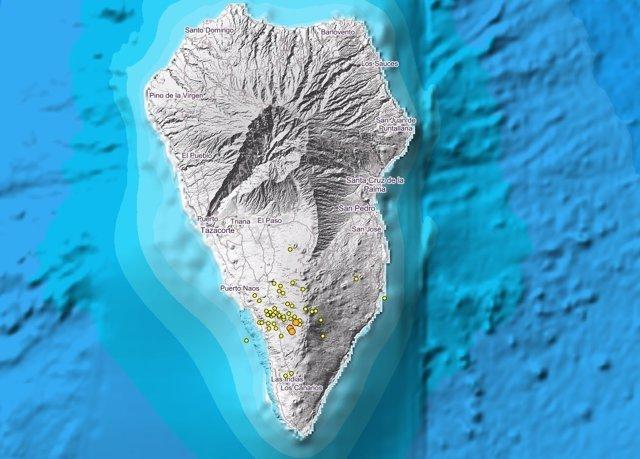 Localización de los temblores