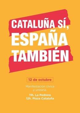 Manifestación en Barcelona por el 12-O