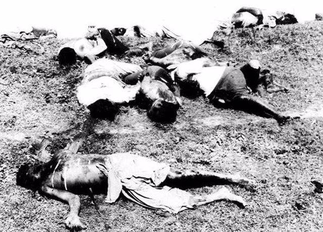 Cuerpos de los haitianos muertos durante la Masacre del Perejil de 1937