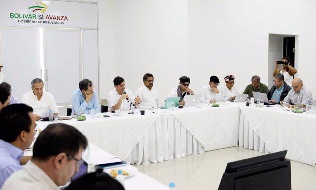 Reunión del Gobierno y las FARC