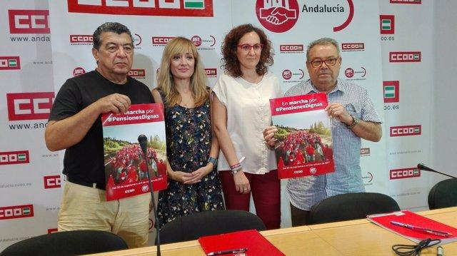 Antonio del Moral, Carmen Castilla, Nuria López y Antonio Fernández.