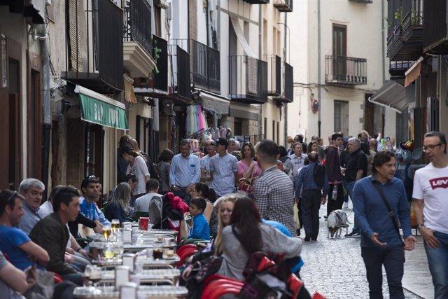Turistas en Morella