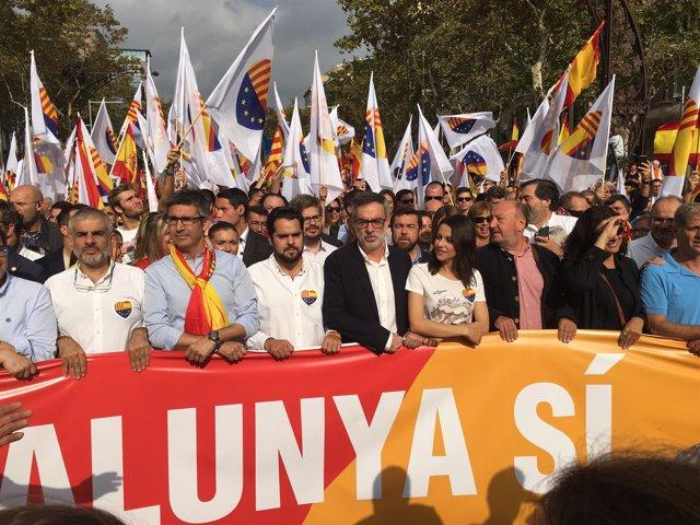 Manifestación de la Hispanidad 12-O en Barcelona