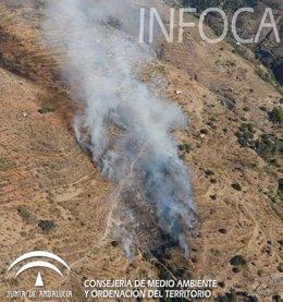 Incendio en Válor (Granada)