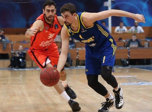 Alexey Shved en el Khimki - Valencia Basket