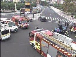 Imagen del accidente en la Plaza Zaragoza de Valencia