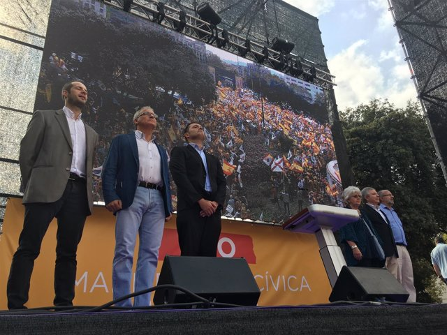 Manifestación del 12-O en Barcelona, en la Hispanidad 2017