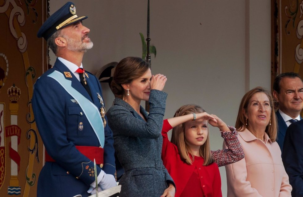 La reina letizia y la princesa leonor