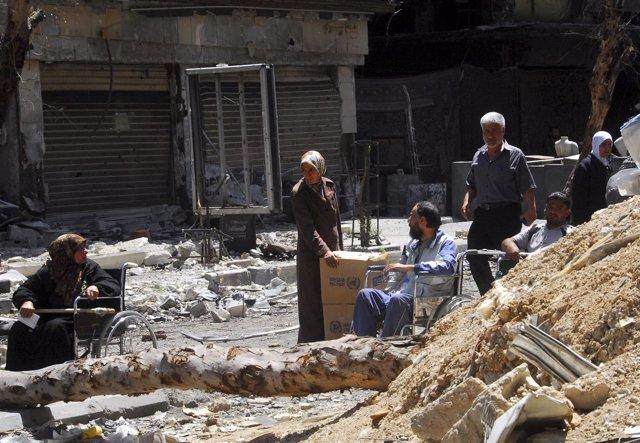 Asentamiento palestino de Yarmuk (Siria)