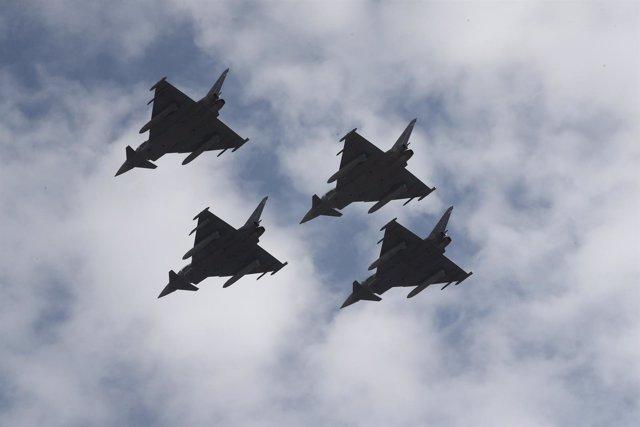 Un eurofighter se estrella tras participar en el desfile del 12 de Octubre