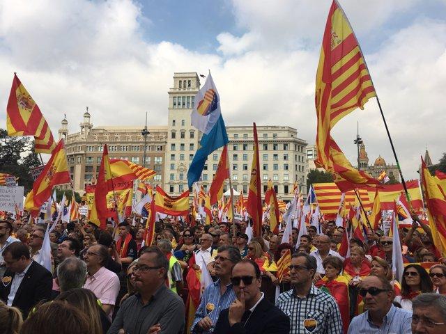 Manifestació del 12-O a Barcelona per la Hispanitat 2017