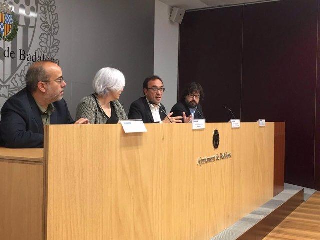 Dolors Sabater y Josep Rull