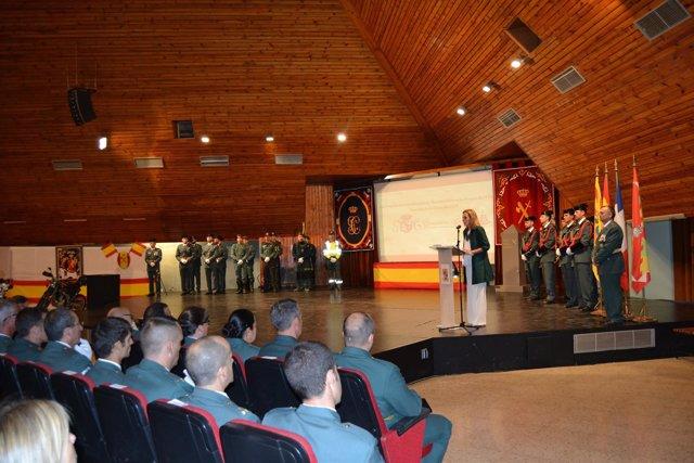 Acto de celebración de la patrona de la Guardia Civil en Huesca