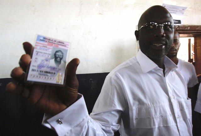 George Weah candidato a la presidencia de Liberia