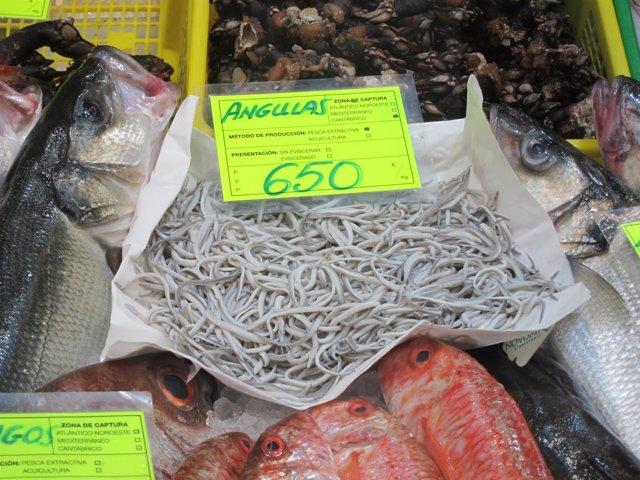 Angulas de pescadería