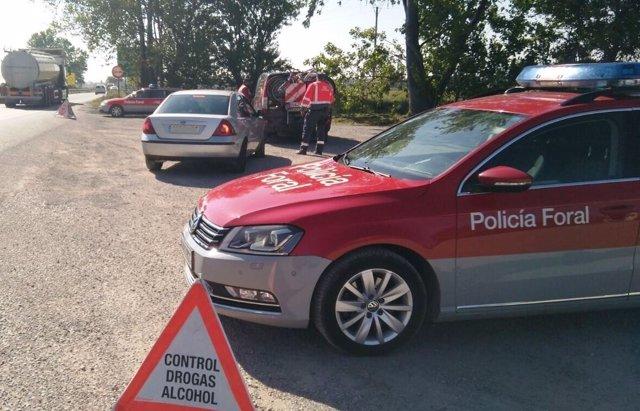 Moto inmovilizada por la Policía Foral