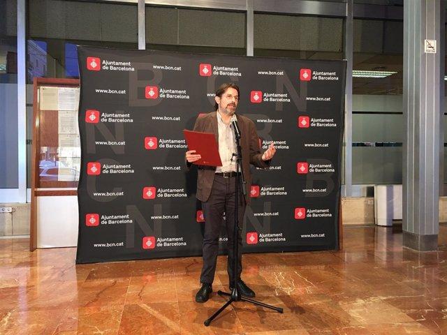 El comisionado de Ecología del Ayuntamiento de Barcelona, Frederic Ximeno