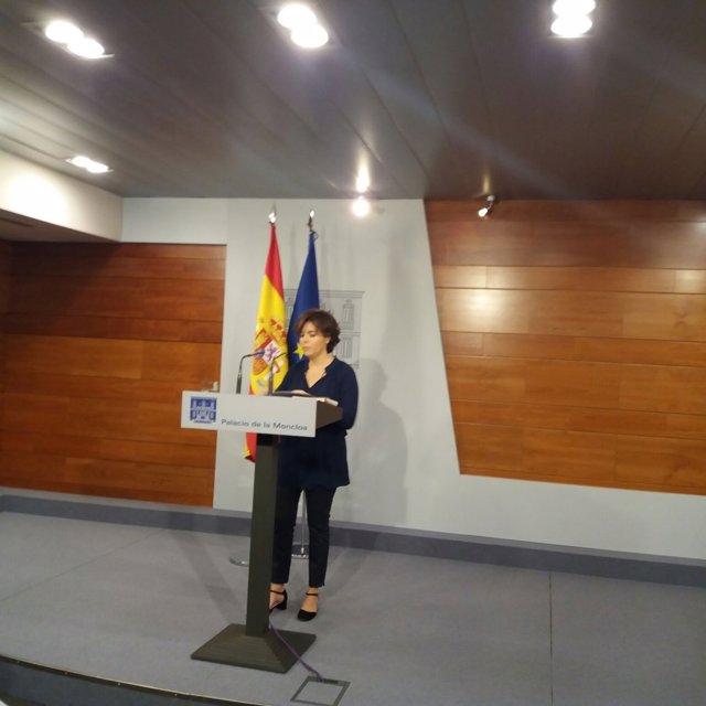 Rueda de prensa de Soraya Sáenz de Santamaría