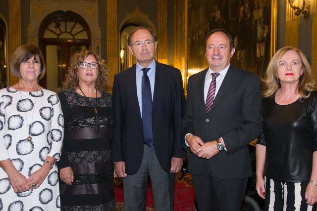 Sanz, Mendiola y García Escudero con Aspace