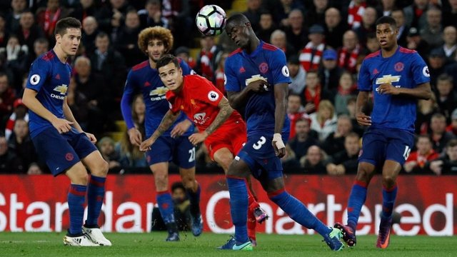 Coutinho en el Liverpool - Manchester United