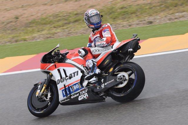 Andrea Dovizioso (Ducati) en Aragón