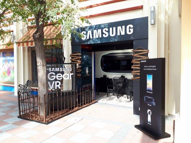 Espacio de Samsung en el Parque Warner Madrid