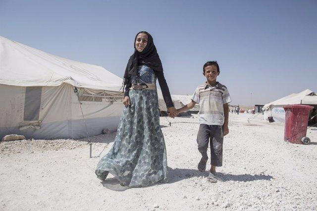 Niños en Raqqa