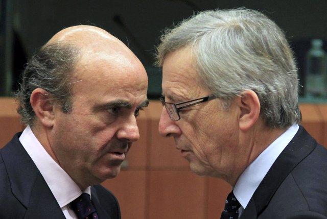 Luis De Guindos Habla Con Juncker