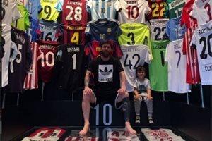 El hijo de Messi triunfa en las redes por su reacción cuando le piden fotos a su padre