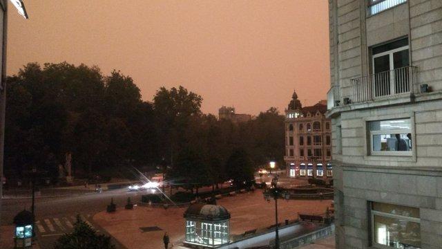 Oviedo a las 9:00 horas de la mañana.