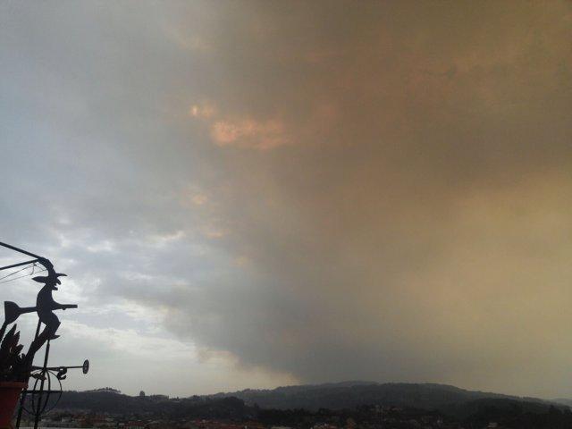 Incendio en Ponteareas