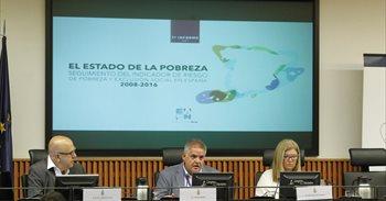Casi un 28% de la población en España, 12,9 millones de personas, vive en riesgo de pobreza y exclusión social