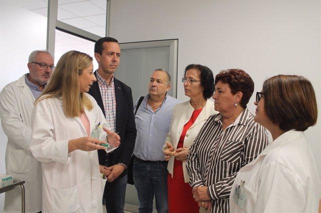 Visita al Hospital La Inmaculada tras la remodelación del hospital de día