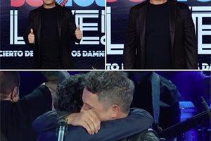 Por primera vez Alejandro Sanz y Marc Anthony cantan juntos 'Deja que te bese' en un concierto benéfico