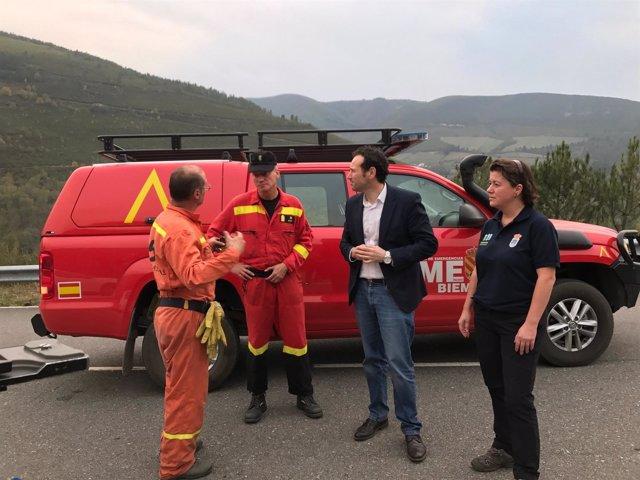 Fotos Y Audios Consejero Presidencia Ibias Incendios