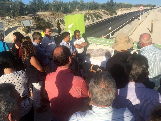 Inauguración del último tramo de la carretera entre Martos y Monte Lope Álvarez