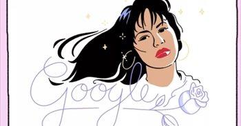 Selena, homenajeada por Google con un 'doodle'