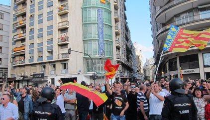 La Policía detiene a otras cuatro personas por los ataques violentos el 9 d'Octubre en València