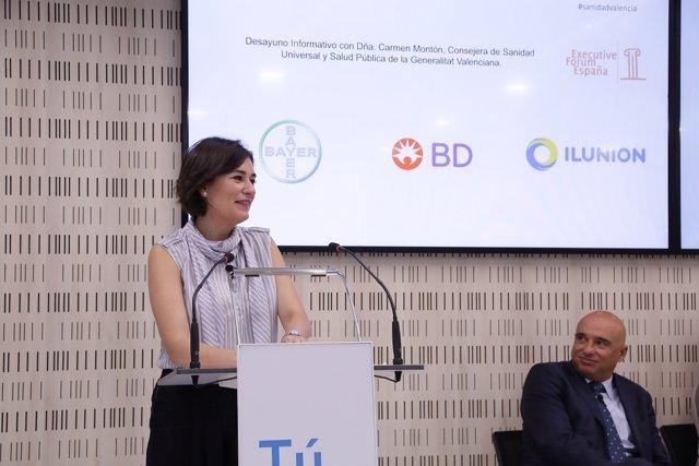 La consejera de Sanidad de la Comunidad Valenciana, Carmen Montón